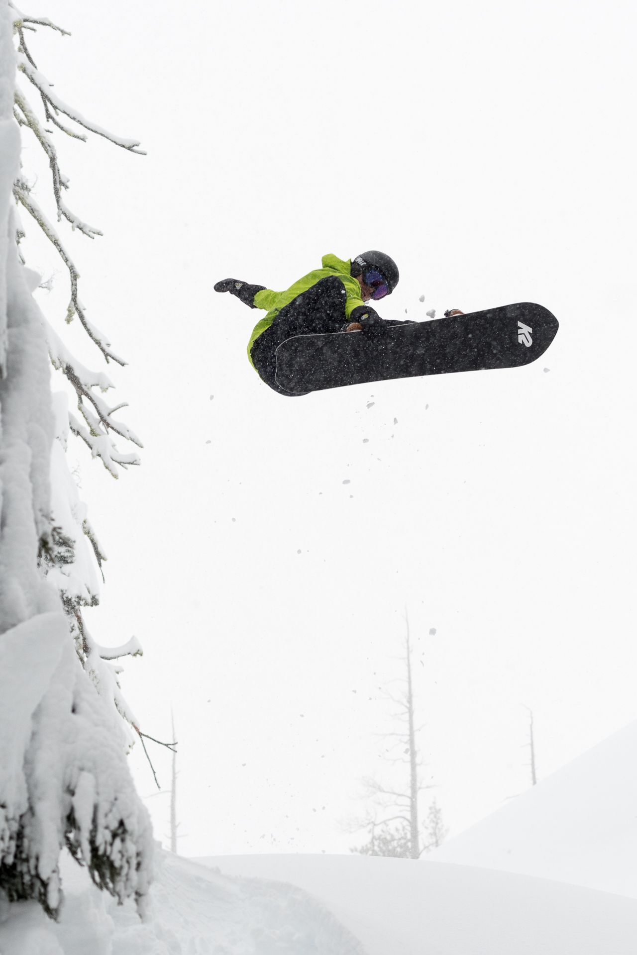 Tim Eddy, front 3. Donner Pass backcountry, CA.
